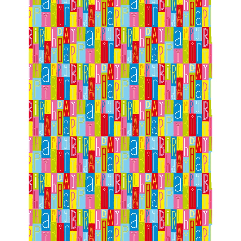 291874 Kids Everyday Happy Bday Wrapping Paper