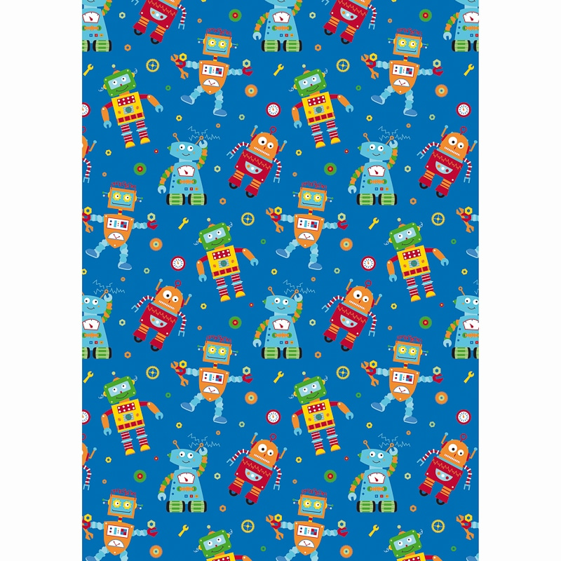 Kids Wrapping Paper 3m Robots Gift Wrap