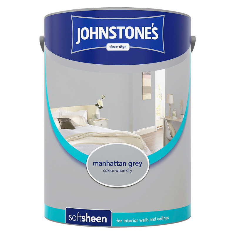Johnstone S Paint Vinyl Soft Sheen Manhattan Grey 5l