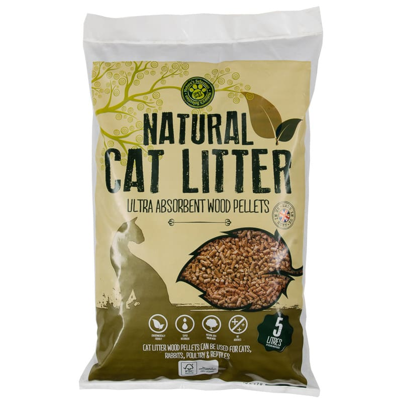 B m cat wood litter l