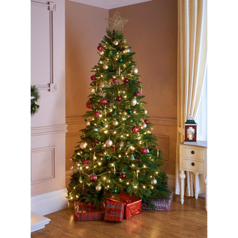Decorate Christmas Tree Like Department Stores: English Pine Christmas Tree - 7ft