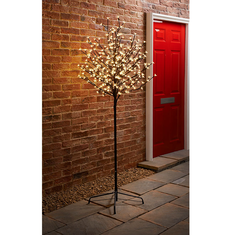 Outdoor decorations cherry blossom christmas tree 6ft cool white