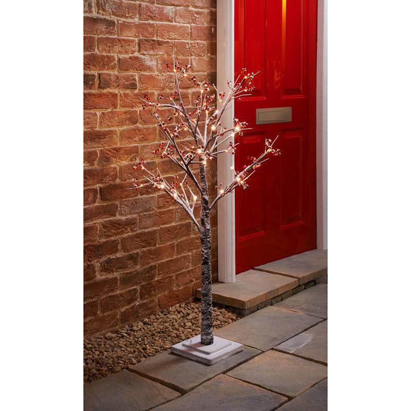 Outside Lights At B M: B&M: Snowy Twig Christmas Tree