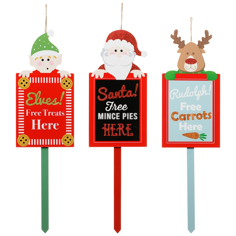 Christmas outdoor stake elf christmas decorations b m for B m christmas decorations