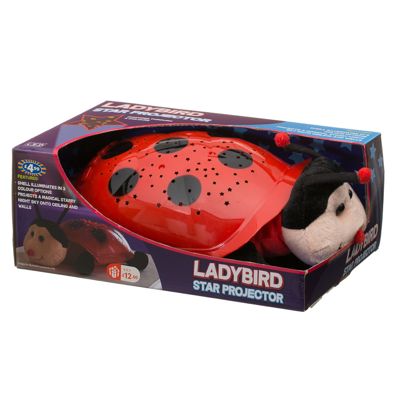 B Amp M Gt Animal Star Light Projector Red Ladybird 2925991