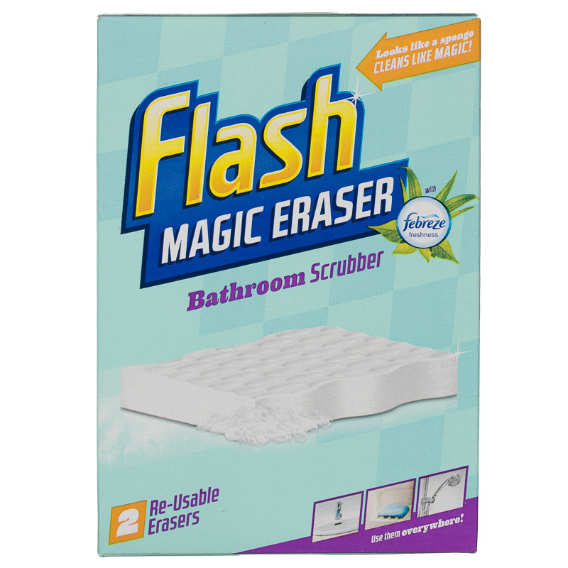 b m flash magic eraser bathroom scrubber 2pk cleaning. Black Bedroom Furniture Sets. Home Design Ideas