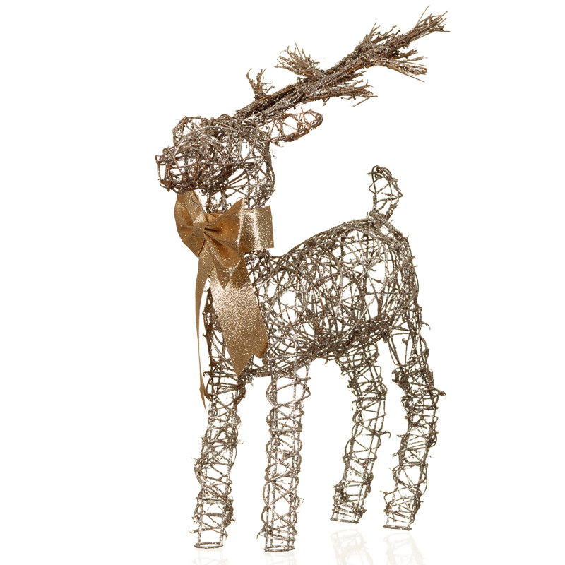 Decorative reindeer ornament christmas decorations b m for B m xmas decorations