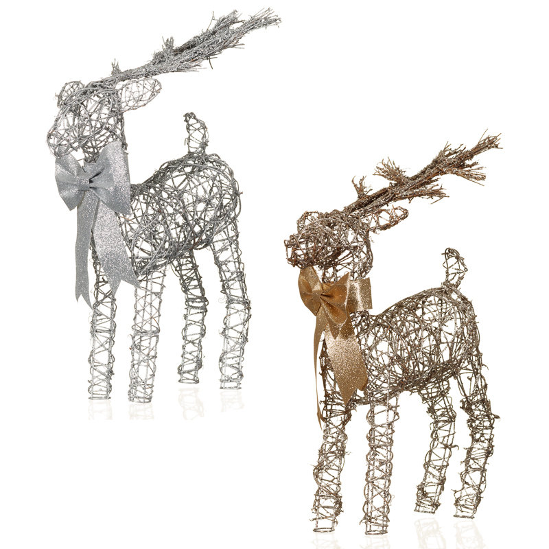 Decorative reindeer ornament christmas decorations b m for B m christmas decorations