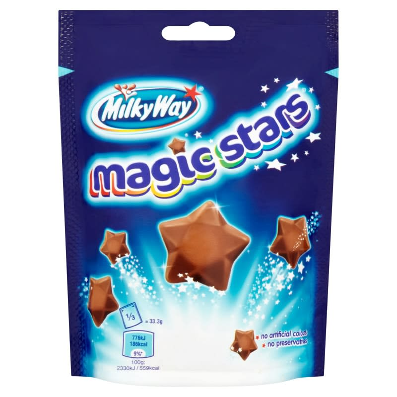 Milky Way Magic Stars Pouch 100g Groceries Chocolate B Amp M