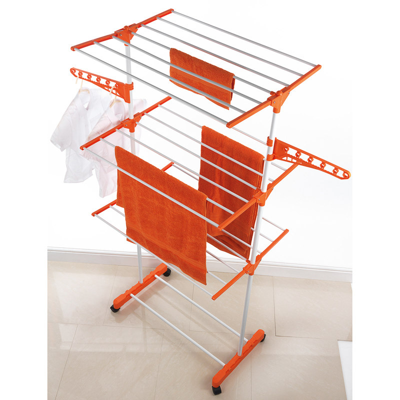 B&M Beldray Deluxe 3 Tier Upright Airer with Wheels ...