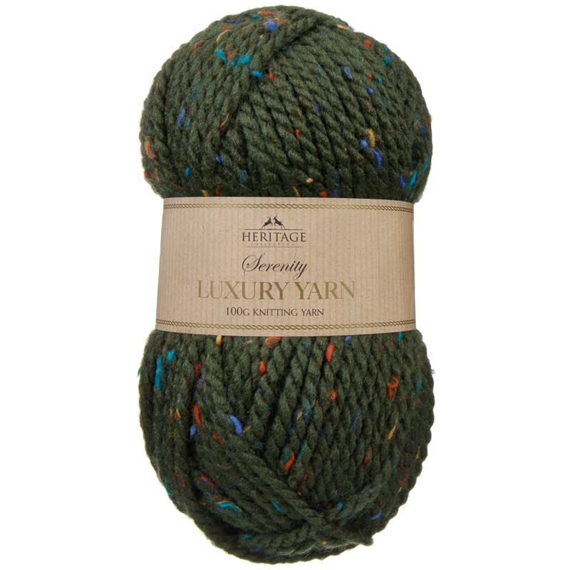 Serenity Chunky Knitting Yarn 100g - Green