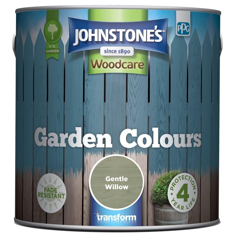 johnstone 39 s paint woodcare garden colours gentle willow 2 5l. Black Bedroom Furniture Sets. Home Design Ideas