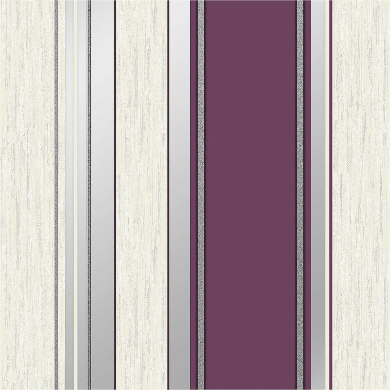 click on image to enlarge - Vymura Synergy Stripe Wallpaper - Plum Decorating, DIY