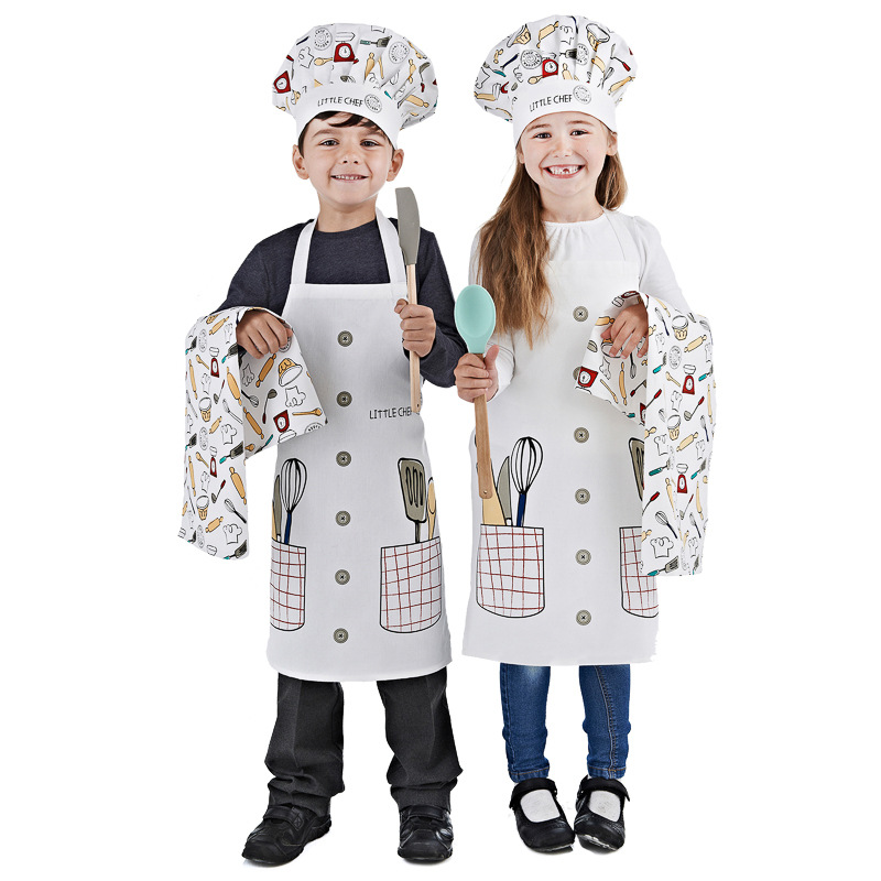 Kids Chef Set 3pc Little Chef Kids Aprons