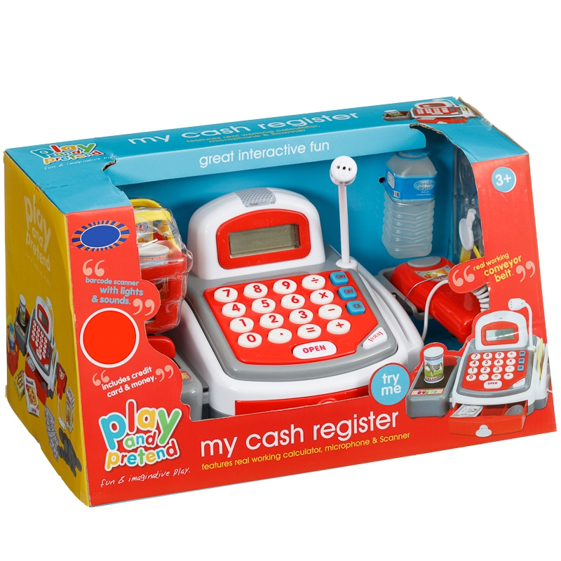 Deluxe Toy Cash Register : Play pretend my cash register role toys b m