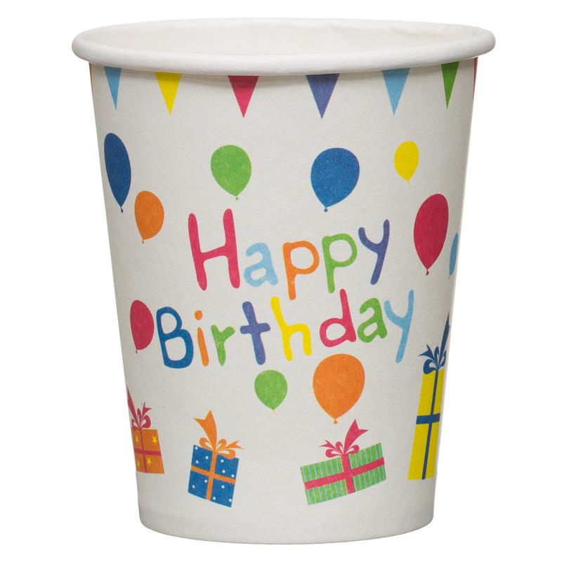 9oz Paper Cups 15pk Happy Birthday Kids Parties