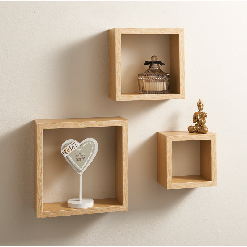 Lokken 3 Cube Shelves Living Room Furniture BampM