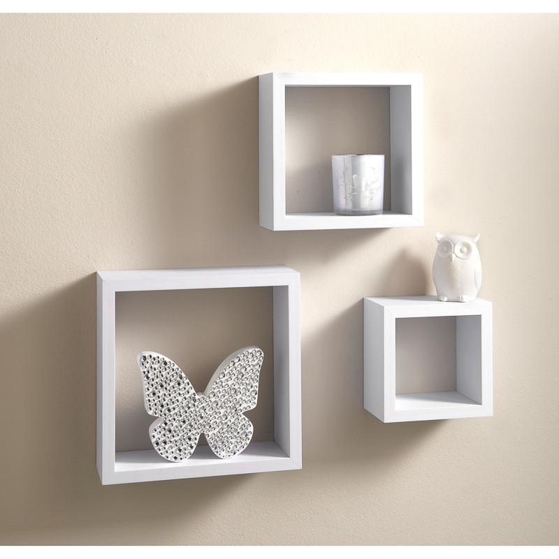 Lokken 3 Cube Shelves | Living Room Furniture - B&M