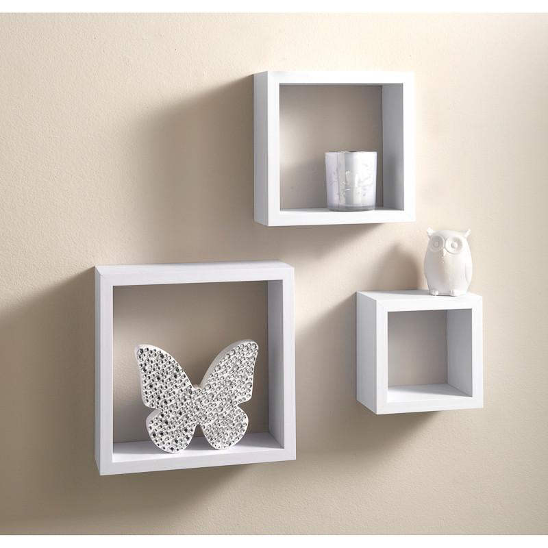 Lokken 3 cube shelves living room furniture b m for Cubes de rangement mural