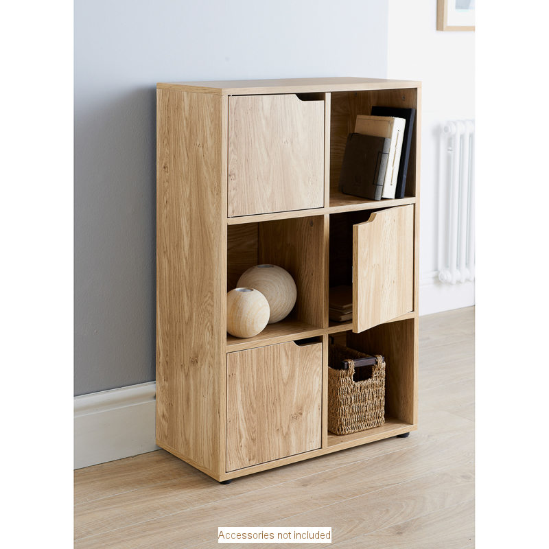 Turin 6 Cube Shelving Unit
