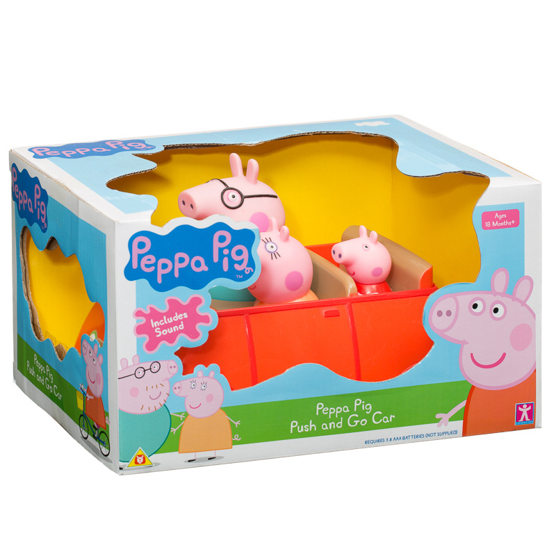 B&M Peppa Pig Push & Go Car - 294122