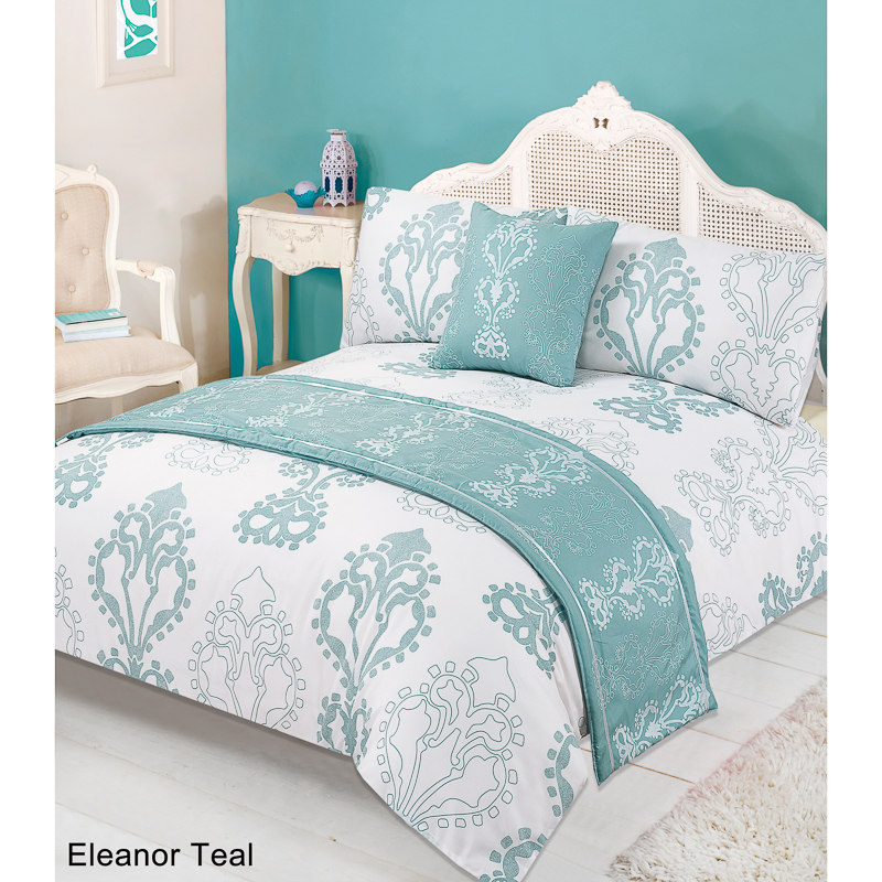 Floral Bed in a Bag King Size Eleanor Teal