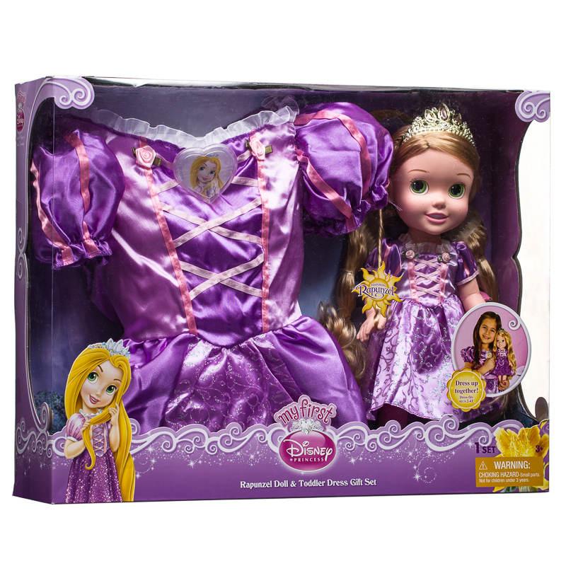 Disney Princess Toddler Doll With Dress: B&M Disney Princess Doll & Toddler Dress Gift Set