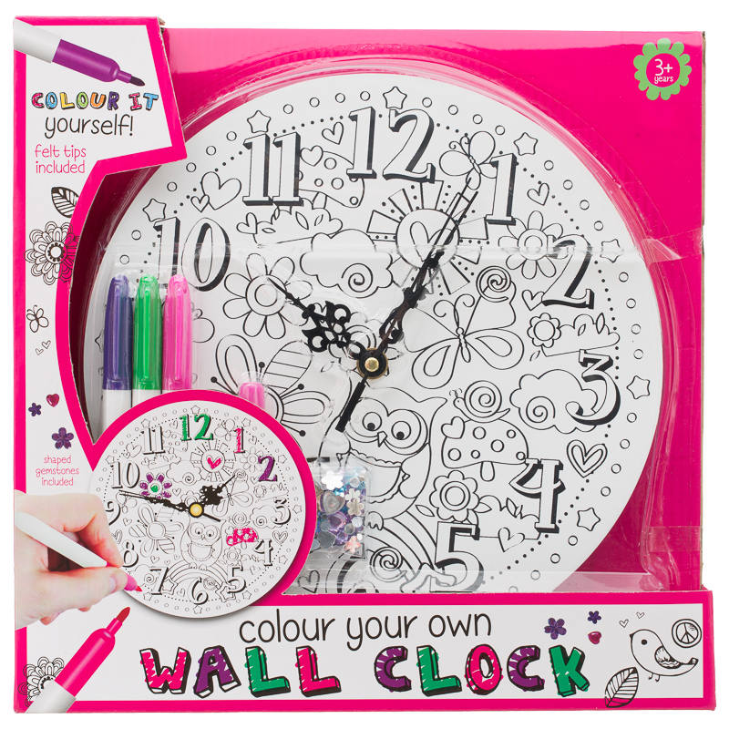 Colour Your Own Clock Kids Crafts Toys Amp Games