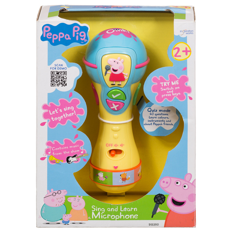 Toys For Adults Electronic Gadgets : Peppa pig sing learn microphone toys games