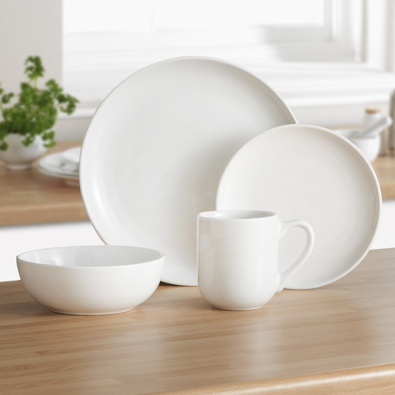 Kensington White Dinner Set 16pc Dining Table Sets