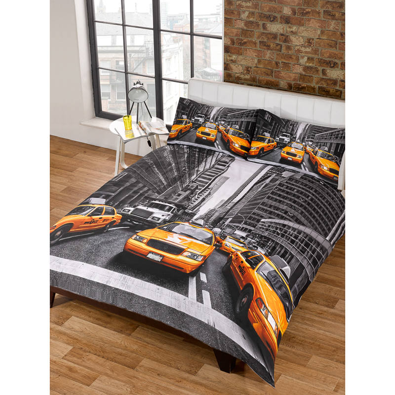B Amp M Double Duvet Set New York Yellow Taxi 2951671