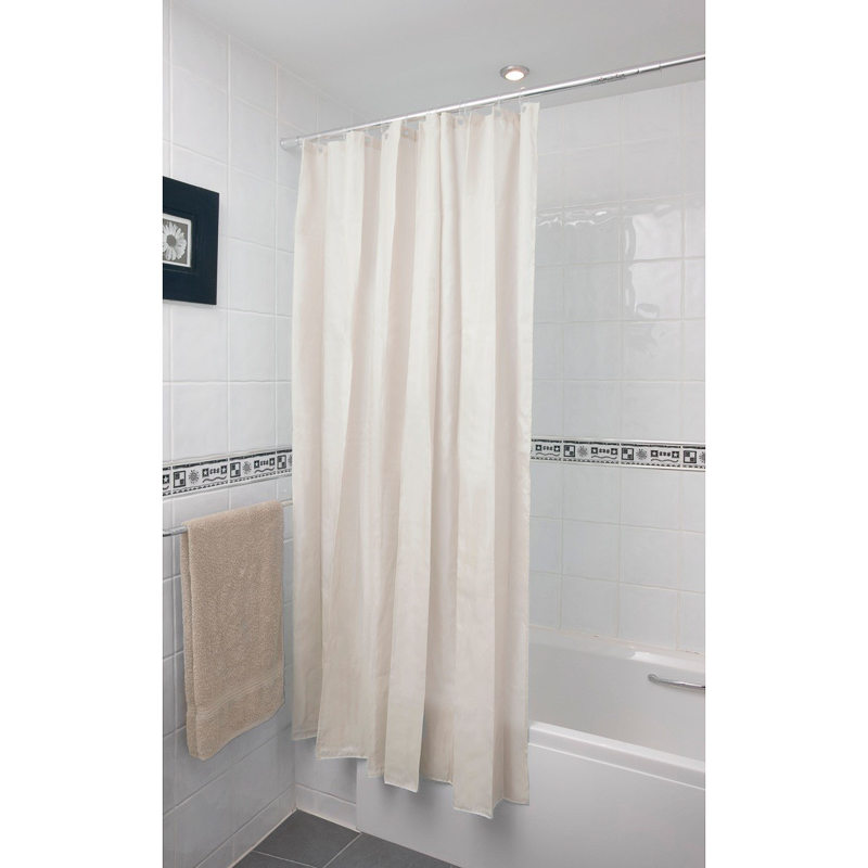 b m plain shower curtain 180 x 180cm 302725 b m