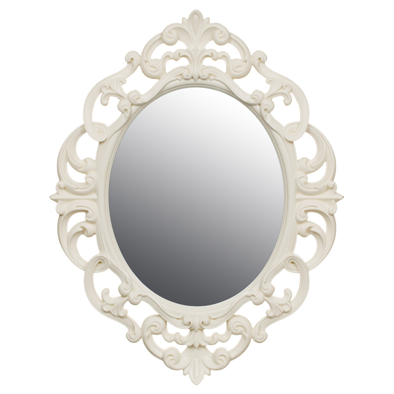B m small ornate oval mirror 295297 b m for Small silver mirror