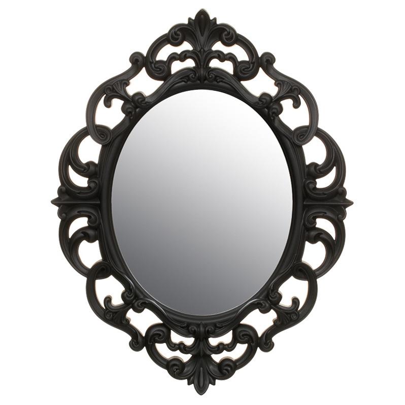 B m small ornate oval mirror 295297 b m for Ornate mirror
