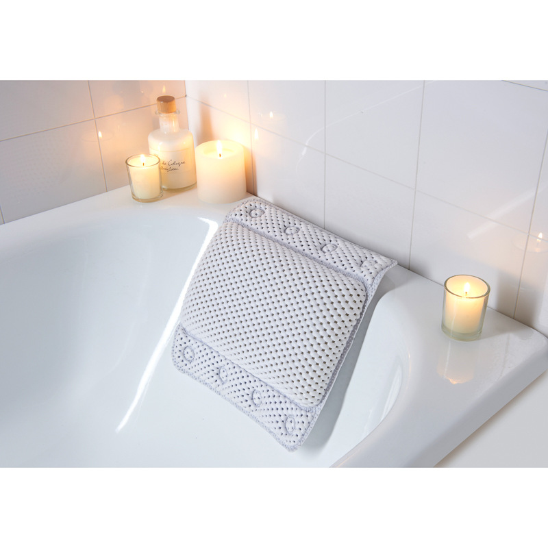 Non Slip Cushioned Bath Pillow 302603 B Amp M