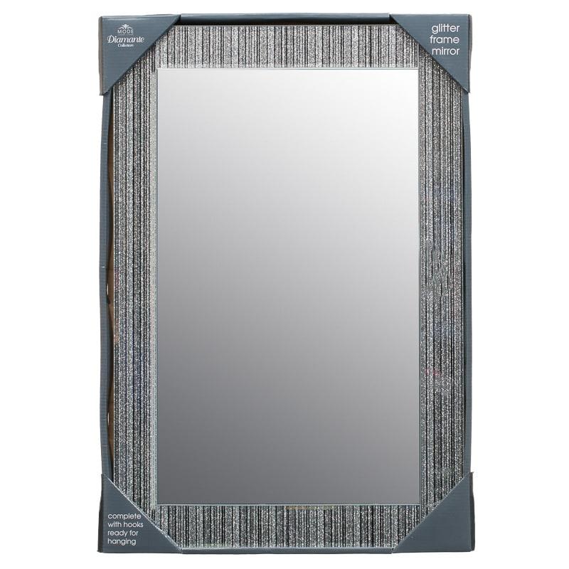 B M Glitter Frame Mirror 295573 B M
