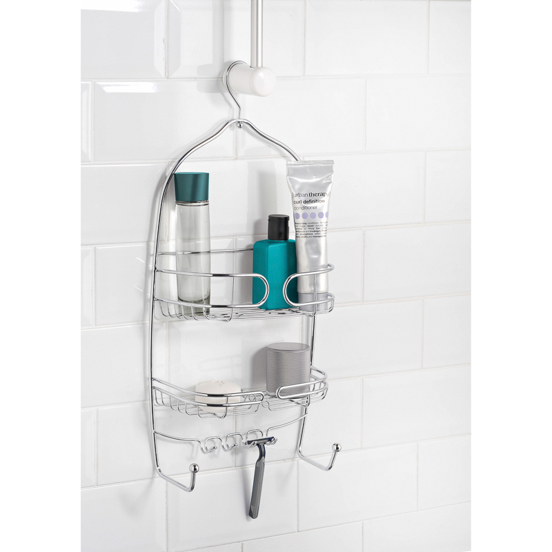 b m multipurpose shower caddy with hook 295652. Black Bedroom Furniture Sets. Home Design Ideas
