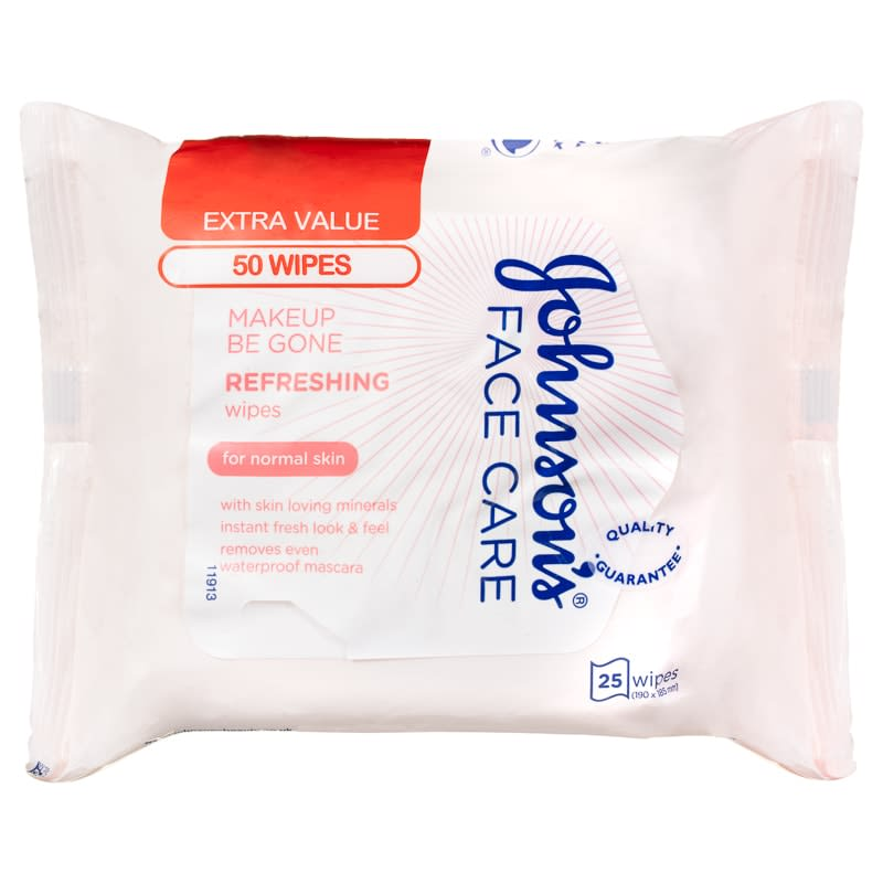 Johnson's Refreshing Face Wipes Twin Pack