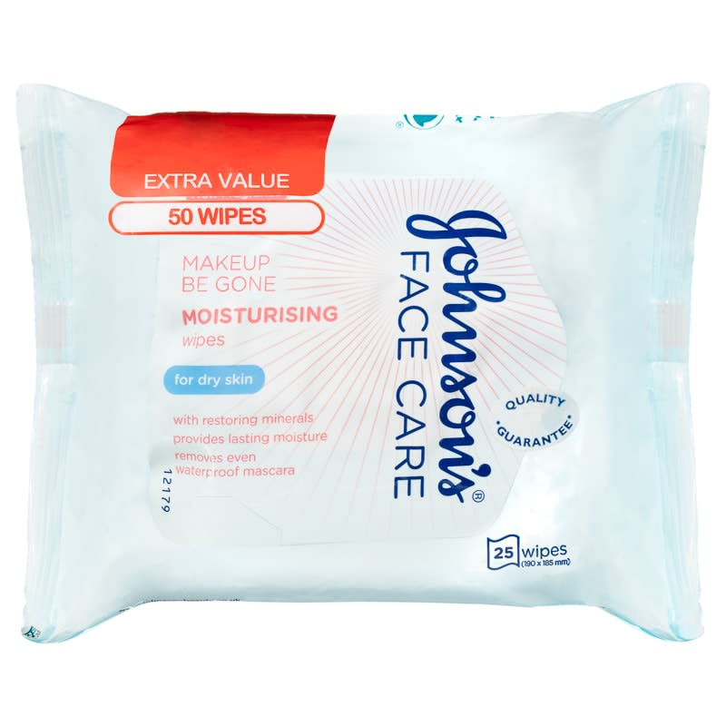 Johnson's Moisturising Face Wipes Twin Pack