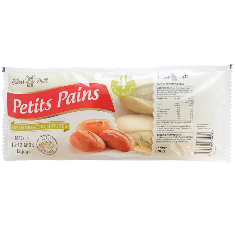 Bakers Mill Petits Pains 4 x 75g