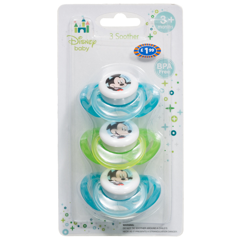 Disney Baby Soothers 3pk Teethers Dummies Pacifiers