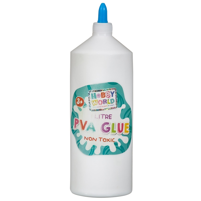 Hobby World PVA Glue 1L | Kids Arts & Crafts - B&M