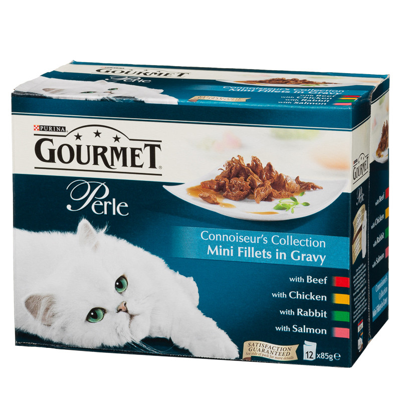 Gourmet Perle Connoiseurs Collection Cat Food 12 X 85g Pets