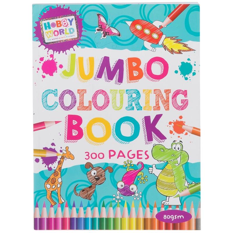 296639 jumbo colouring book - Kids Colouring Books