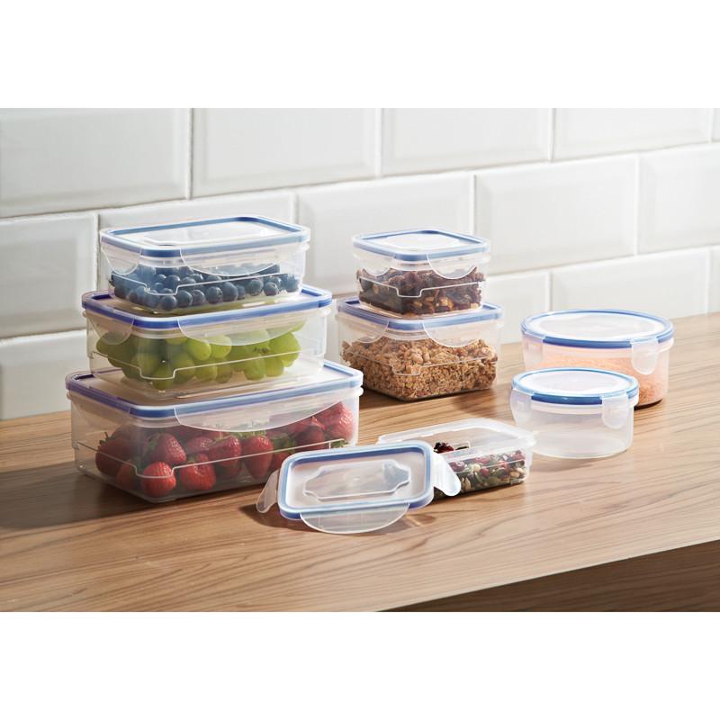 308322 Clip Food Sotrage Boxes Tubberware Blue