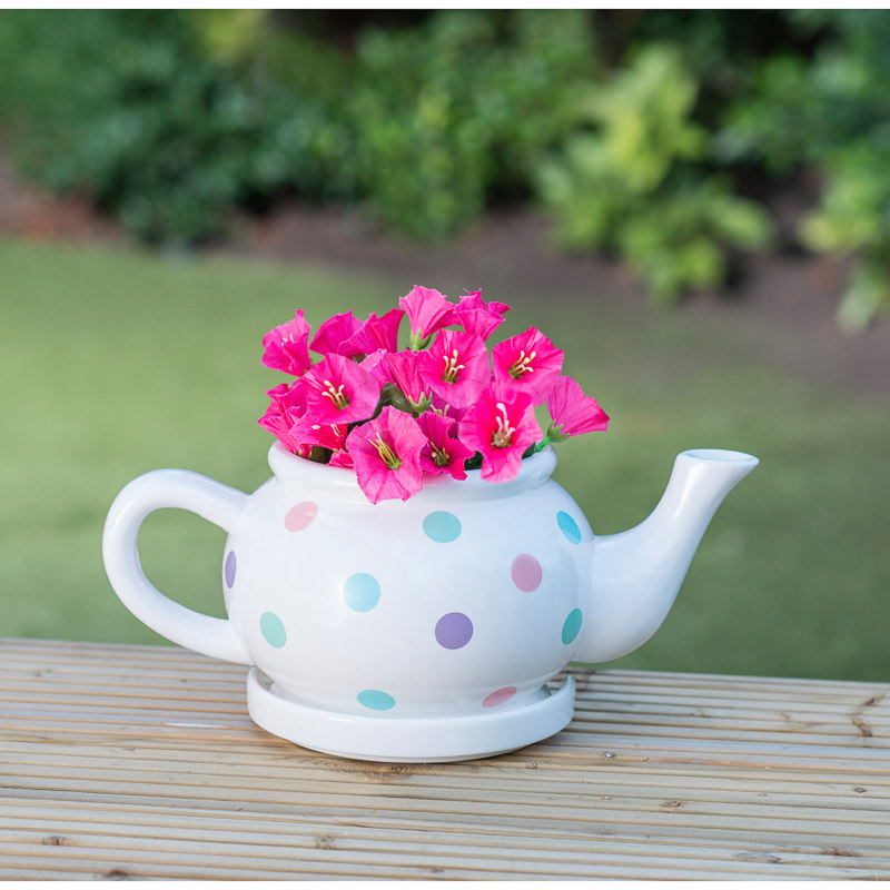 B Amp M Gt Ceramic Teapot Planter Multicolour 2968444