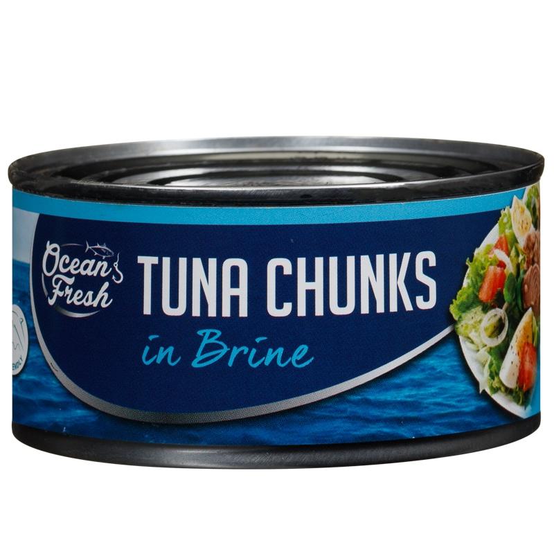 Ocean Fresh Tuna Chunks In Brine 160g Fish Groceries
