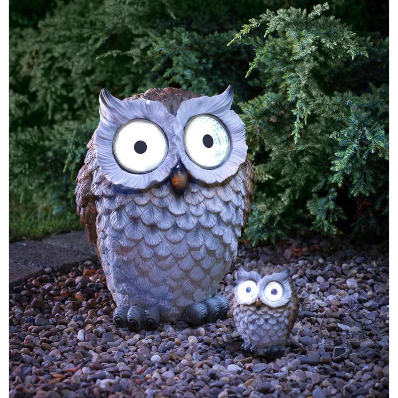 B Amp M Gt Wild Animal With Solar Eyes Ornament Barn Owl