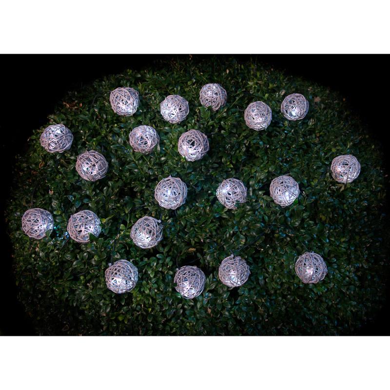 B Amp M Gt 20 Solar Powered Rattan Ball String Lights 297016