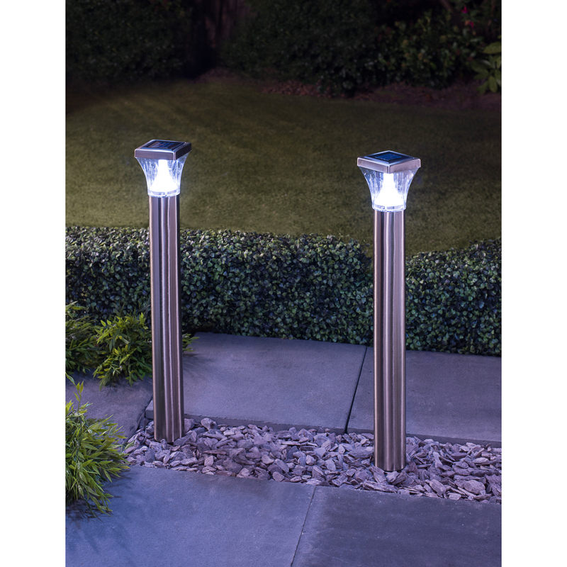 B&M: Stainless Steel Solar Stake Lights